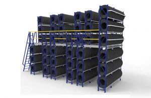 Modular-Raised-Tyre-Storage-System