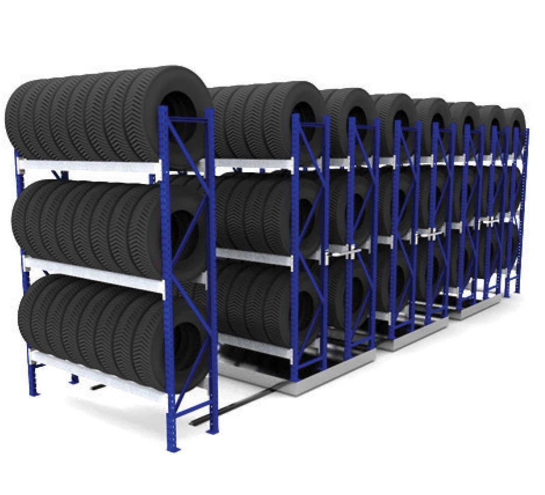 Single Mobile Tyre Racking