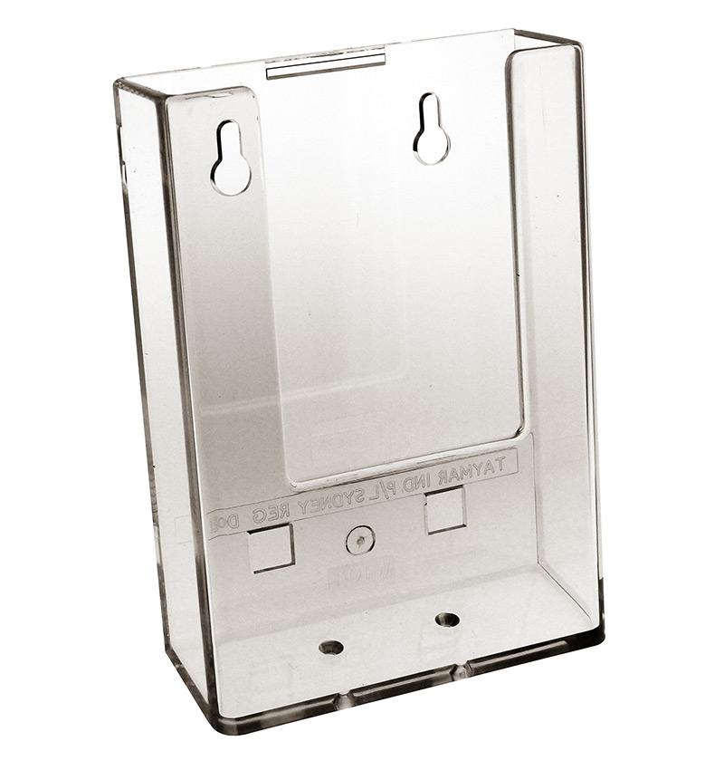 dl portrait brochure holder wall mount all storage systems. Black Bedroom Furniture Sets. Home Design Ideas