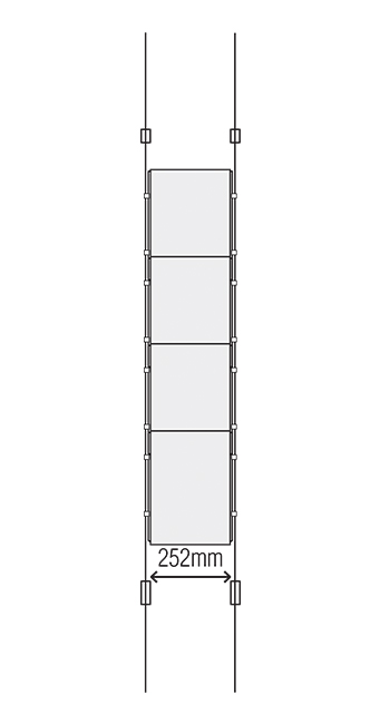 A4 Portrait Suspended Cable Display System