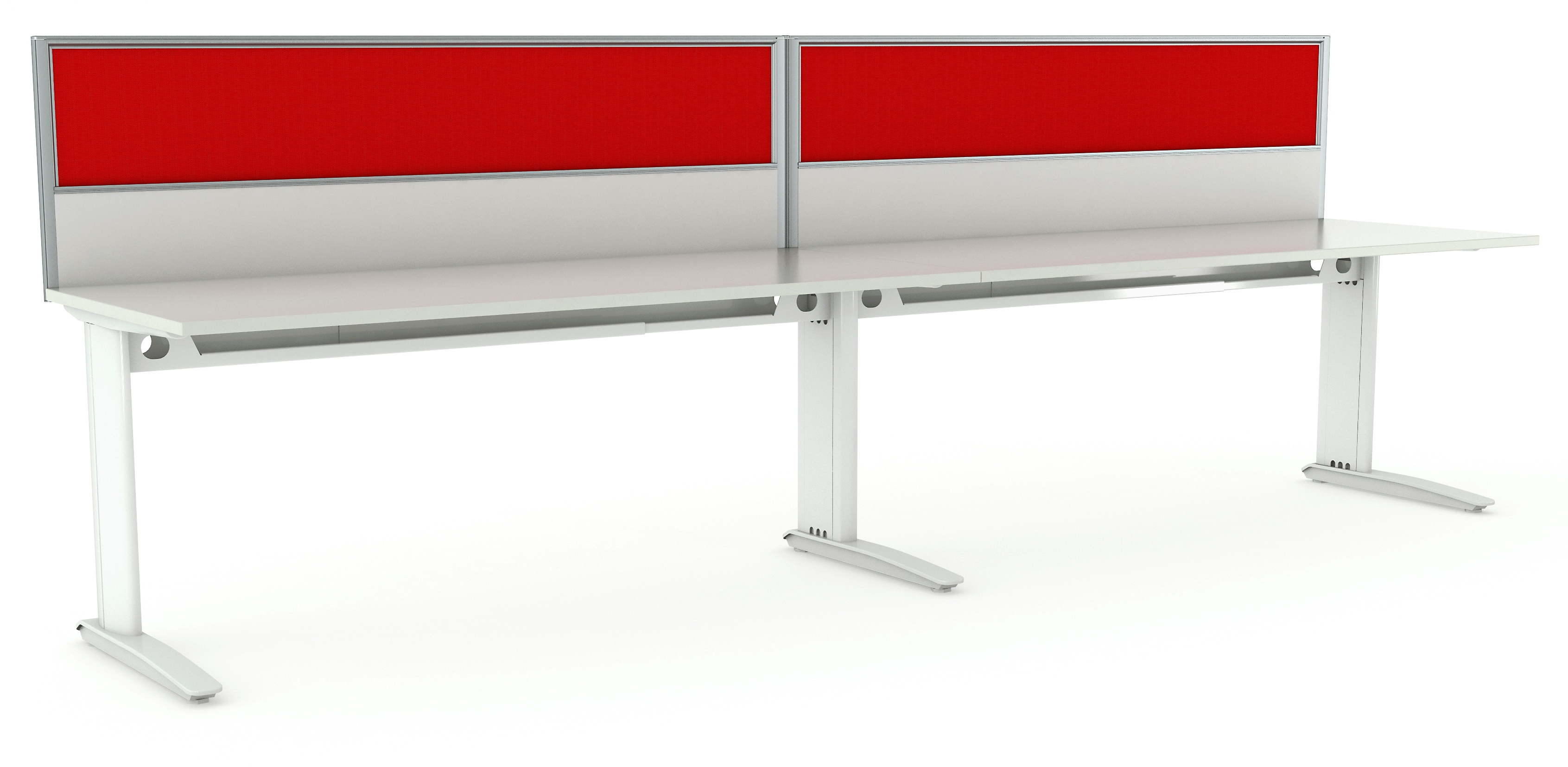 Aero White Desks x2 w Screens