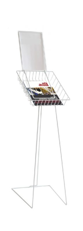 Catalogue Basket with Sign Holder