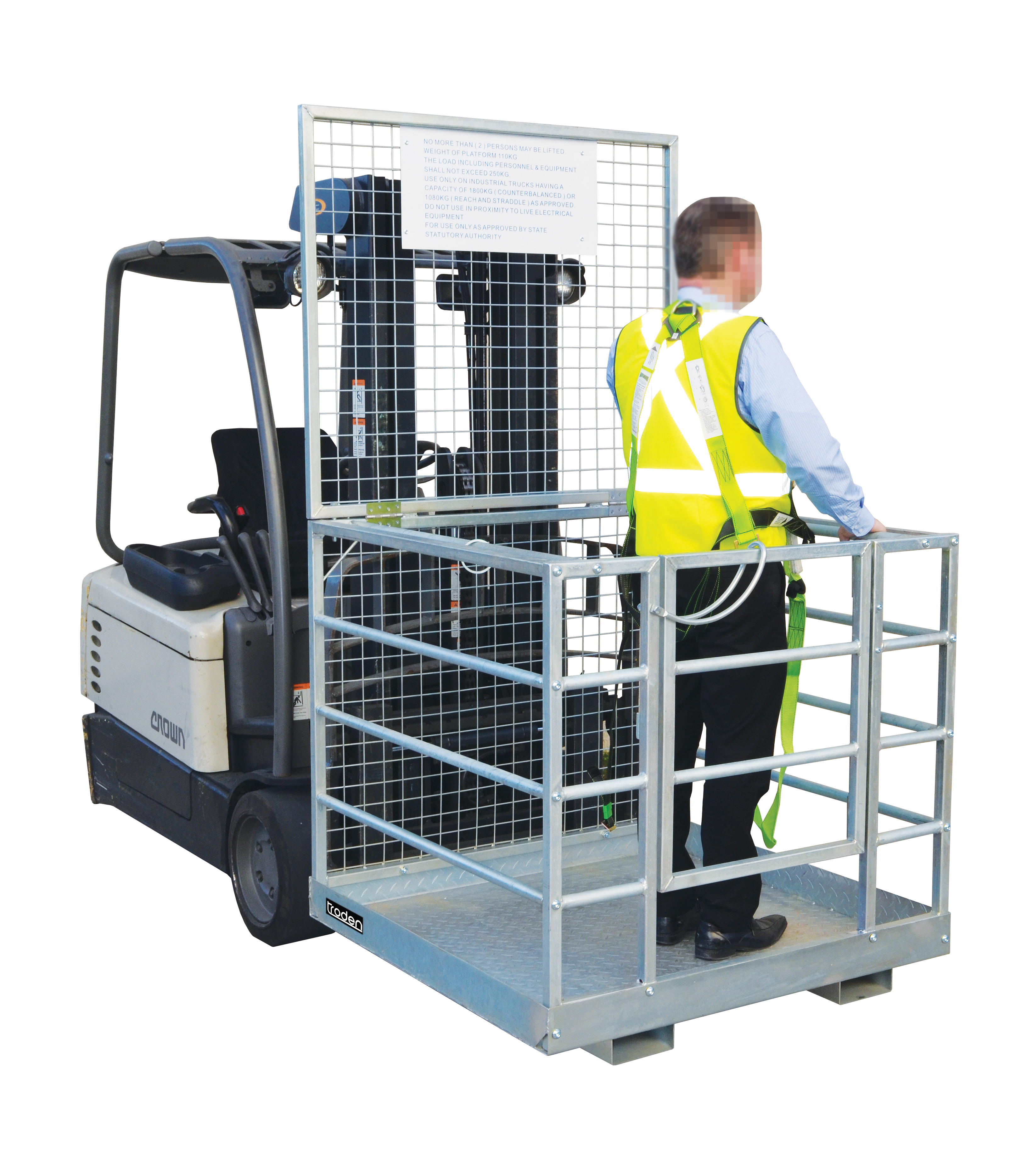 Forklift Safety Cage Zinc Plated All Storage Systems