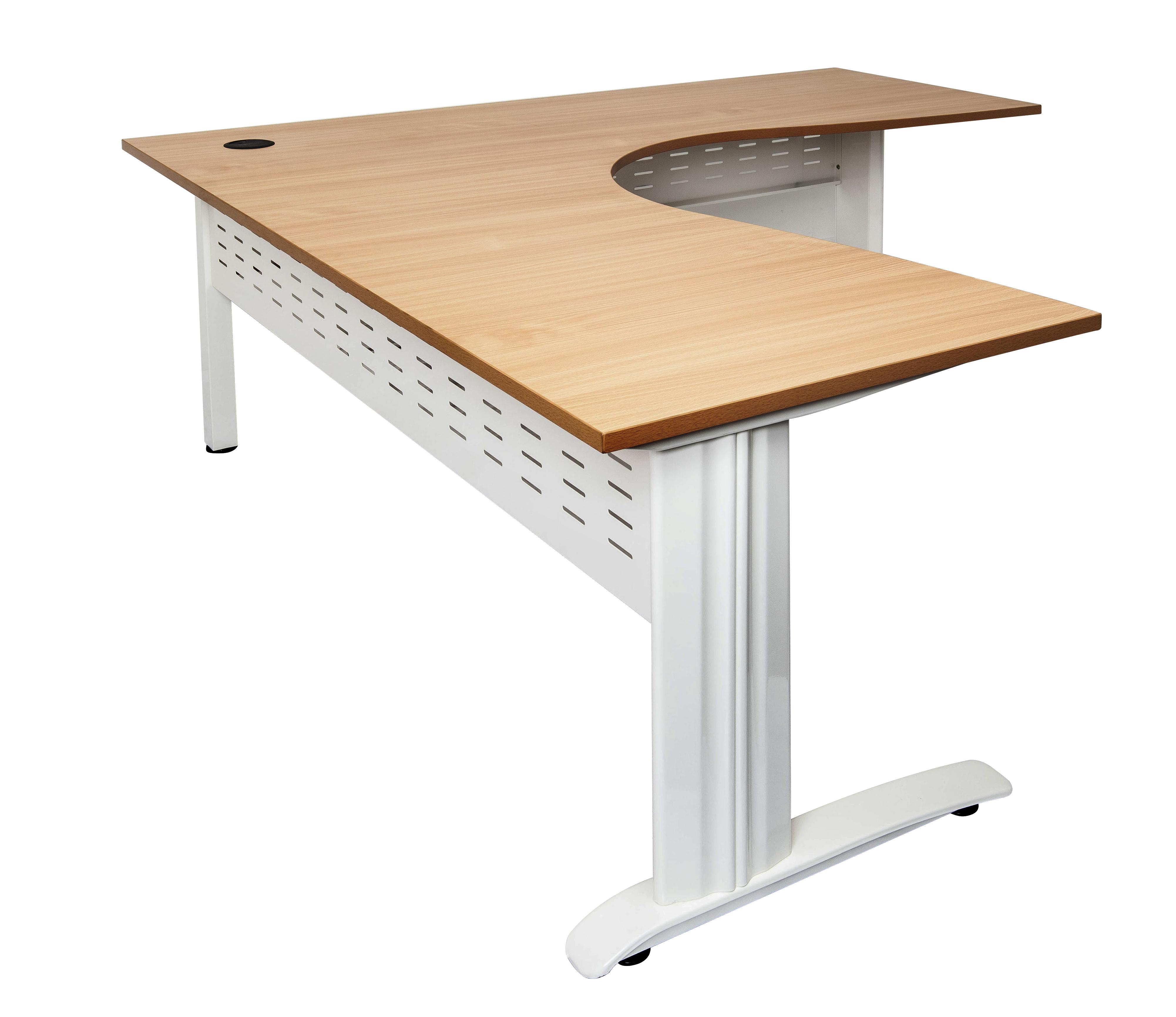 Rapid Span Corner Workstation Beech, Span Leg White1 RSCWS18187 WB