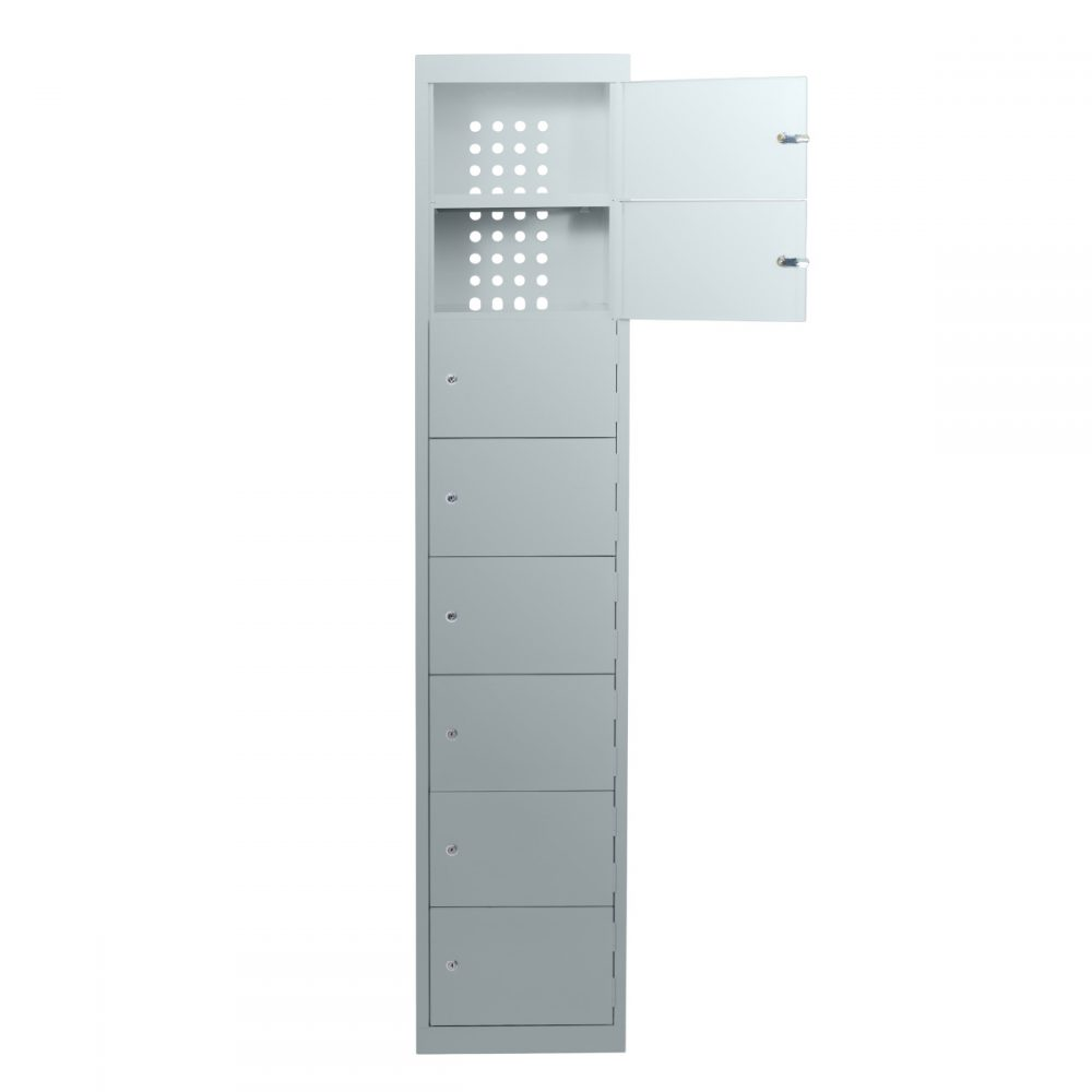 SLT8 - Statewide Laptop Locker - Open - Light Grey