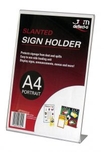 Slanted-Sign-Holder