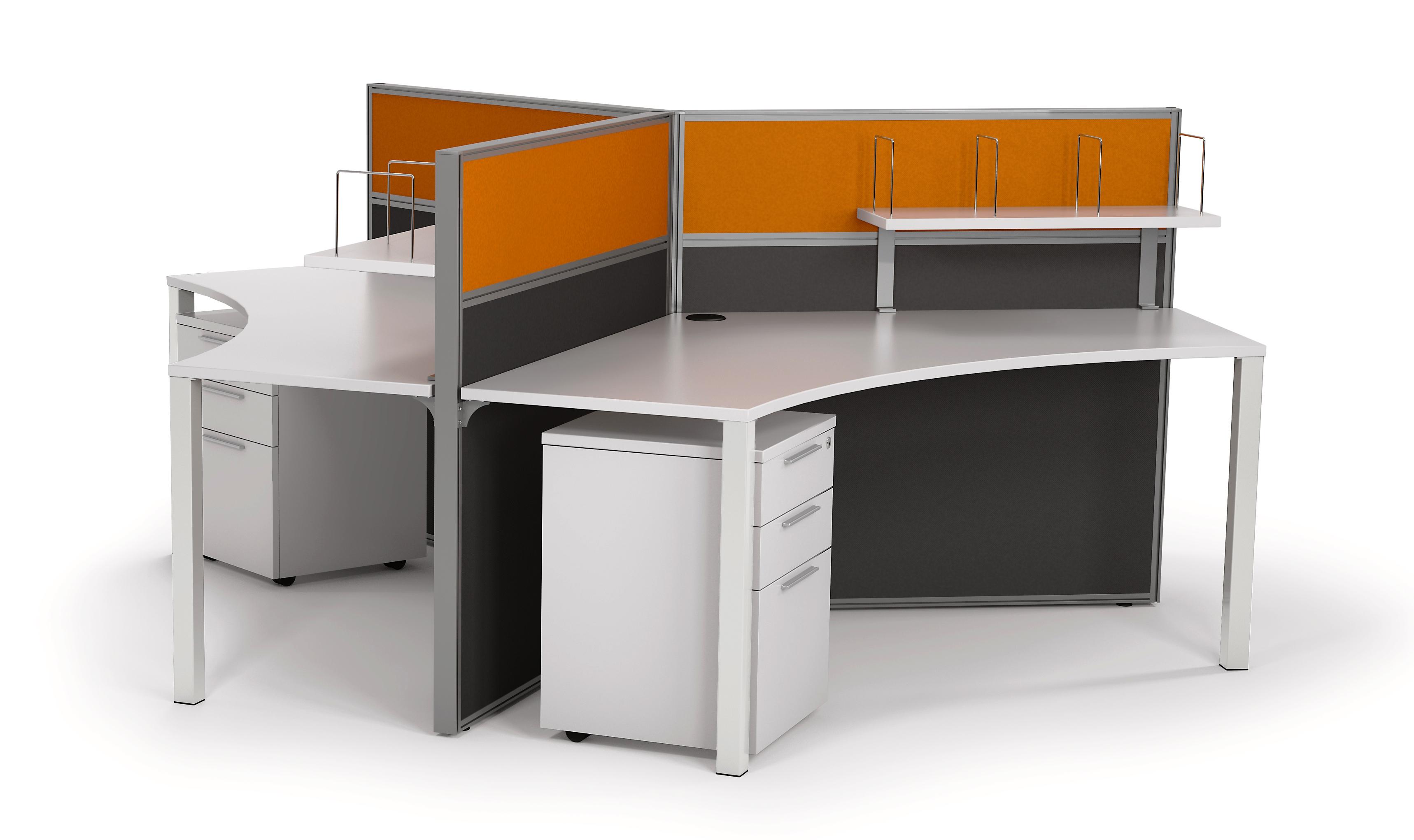 Studio50 Workstations 120deg - 3 pod