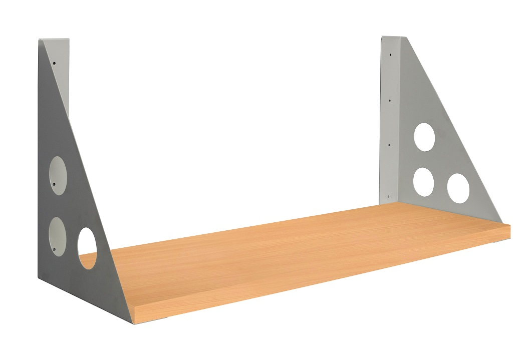 Rapid Screen Shelf Bracket SCSHELF & CBCSHELF_beech