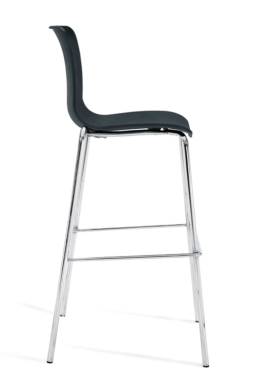 Bar_stool_chrome_legbase_Black23-Side
