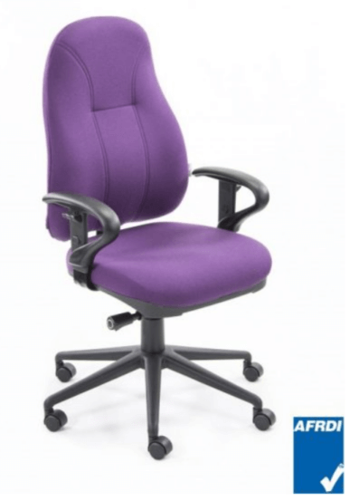 All Storage Systems Contemporary Ergonomic Chair with optional adjustable Headrest and/or Loop Arms