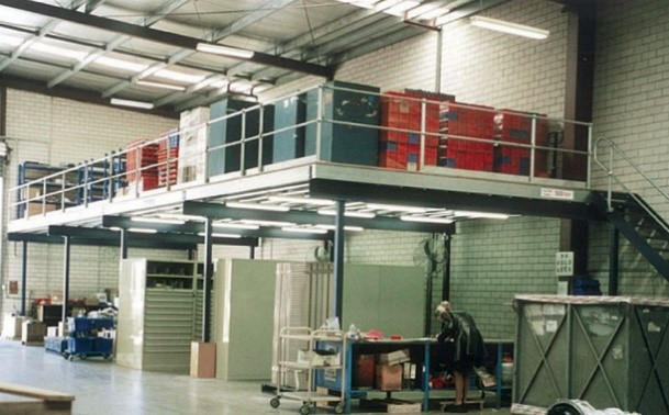 Can't find any more floor space for storage in your warehouse? Try building upwards with mezzanine floors!