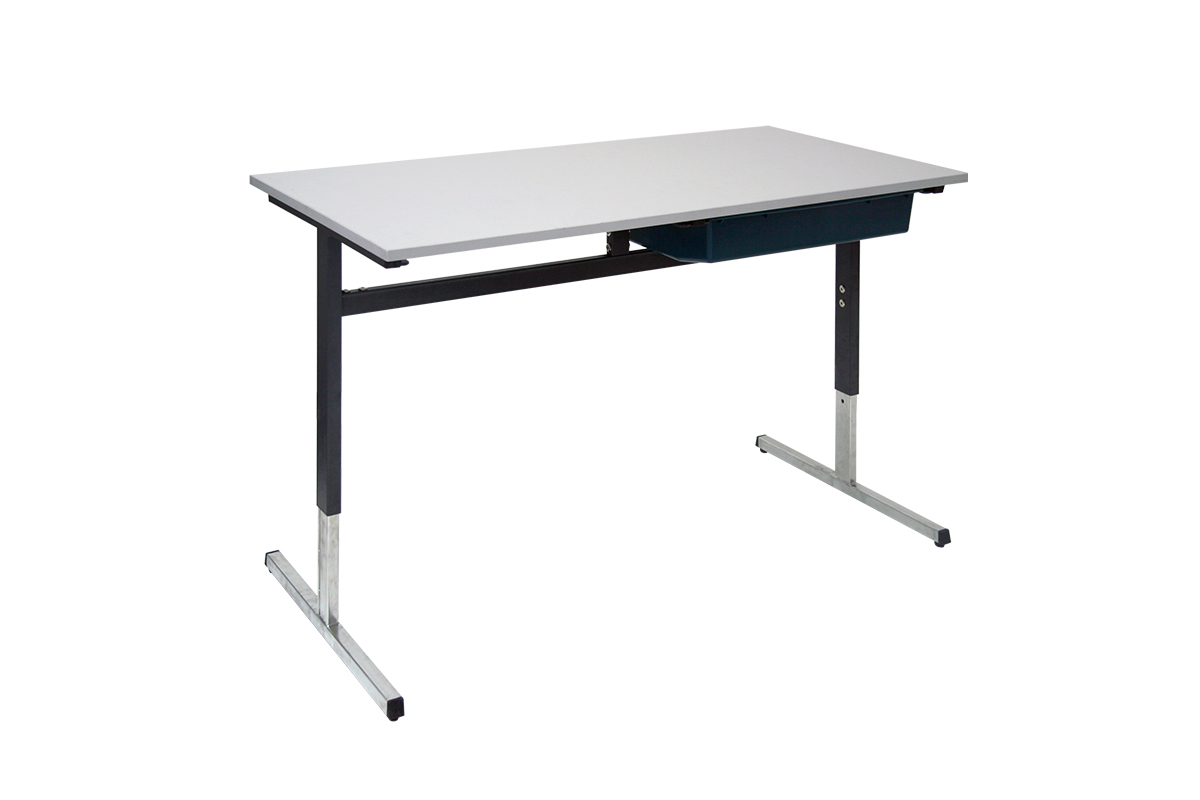 T-leg student desk