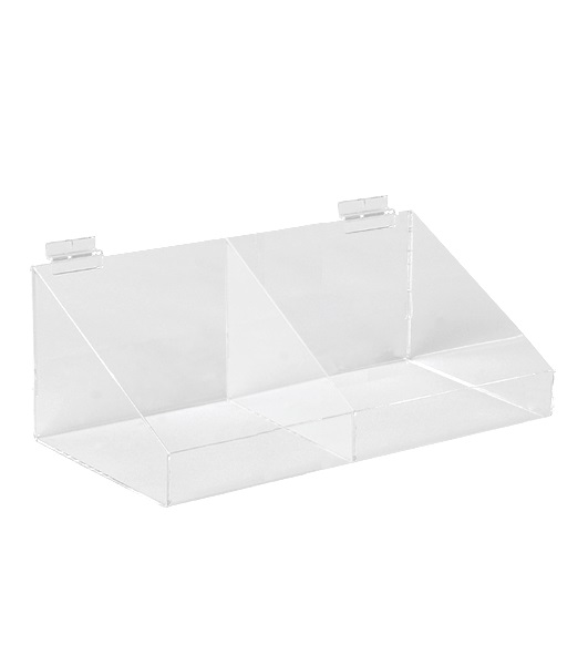 Acrylic Display Bin - 2 Compartment