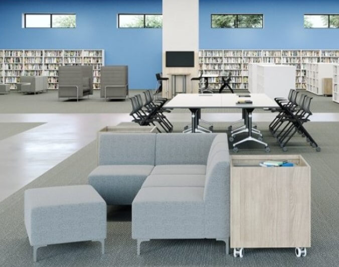 Create the 'living room effect' to enhance relaxation and concentration. Our Konnect Modular Range is not only highly comfortable but can be configured to suit your specific classroom needs.