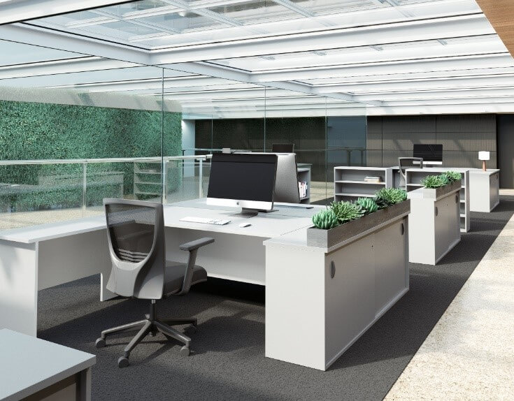 Plants are not only beneficial to your employees' health by purifying indoor air, they also create a calming environment. Try incorporating plants with a stunning feature wall.