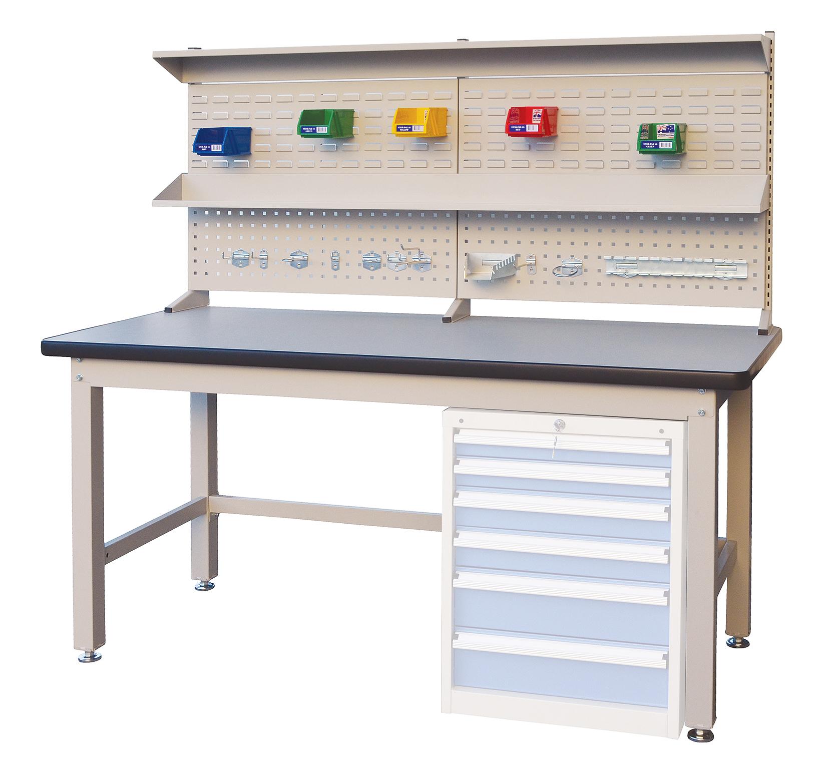 Industrial Workbench with backboard