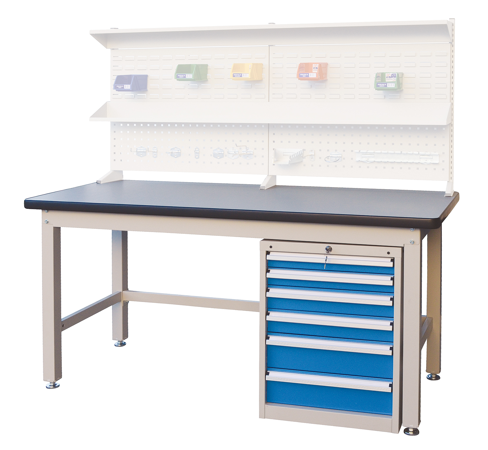 Industrial Workbench with drawer unit
